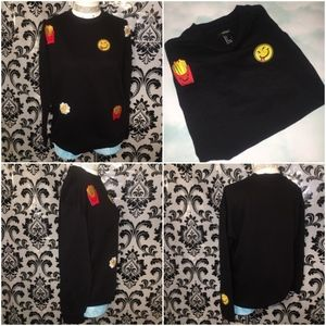 Forever 21 Emoji Oversized Sweater Size Small